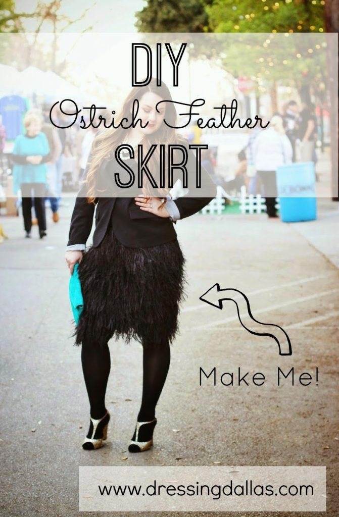 This DIY ostrich feather skit is perfect for the holidays, and it's so easy to make!