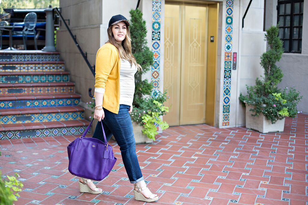 The perfect on the go outfit for mom. It's the perfect combination of chic and casual. I also love that diaper bag!