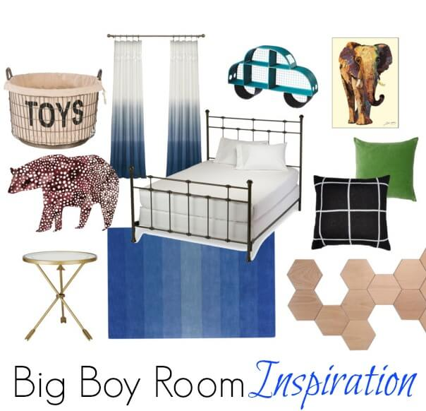 As my toddler grows older, so will his room. See my home decor inspiration for my son's big boy room!